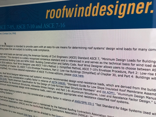 nrca announces significant updates to roof wind designer online wind load calculator